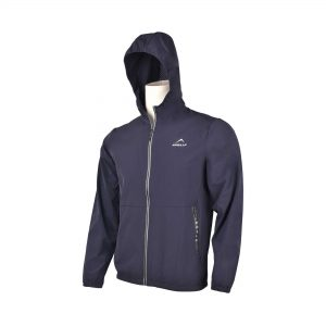 MENS SPORTS CASUAL RUNNING TRAINING LIGHT WEIGHT EARLY WINTERS MICRO TWILL UPPER HOODIE APOLLO 93M350H - NAVY BLUE