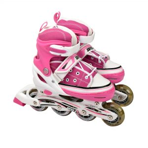 SUPER-K RO0808 INLINE ROLLER SKATE SHOES SKATING HELMET & PROTECTION SET