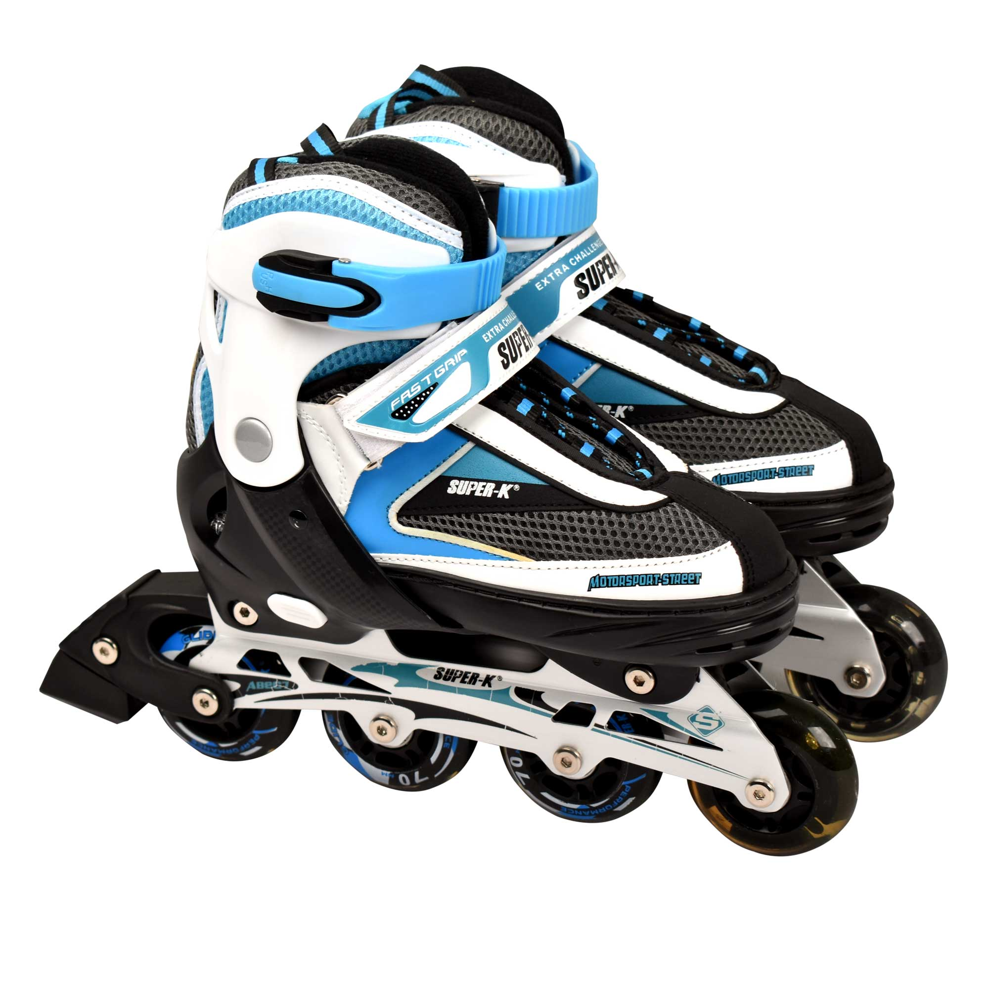 SUPER-K SCB21213 INLINE ROLLER SKATE SHOES SKATING HELMET & PROTECTION SET