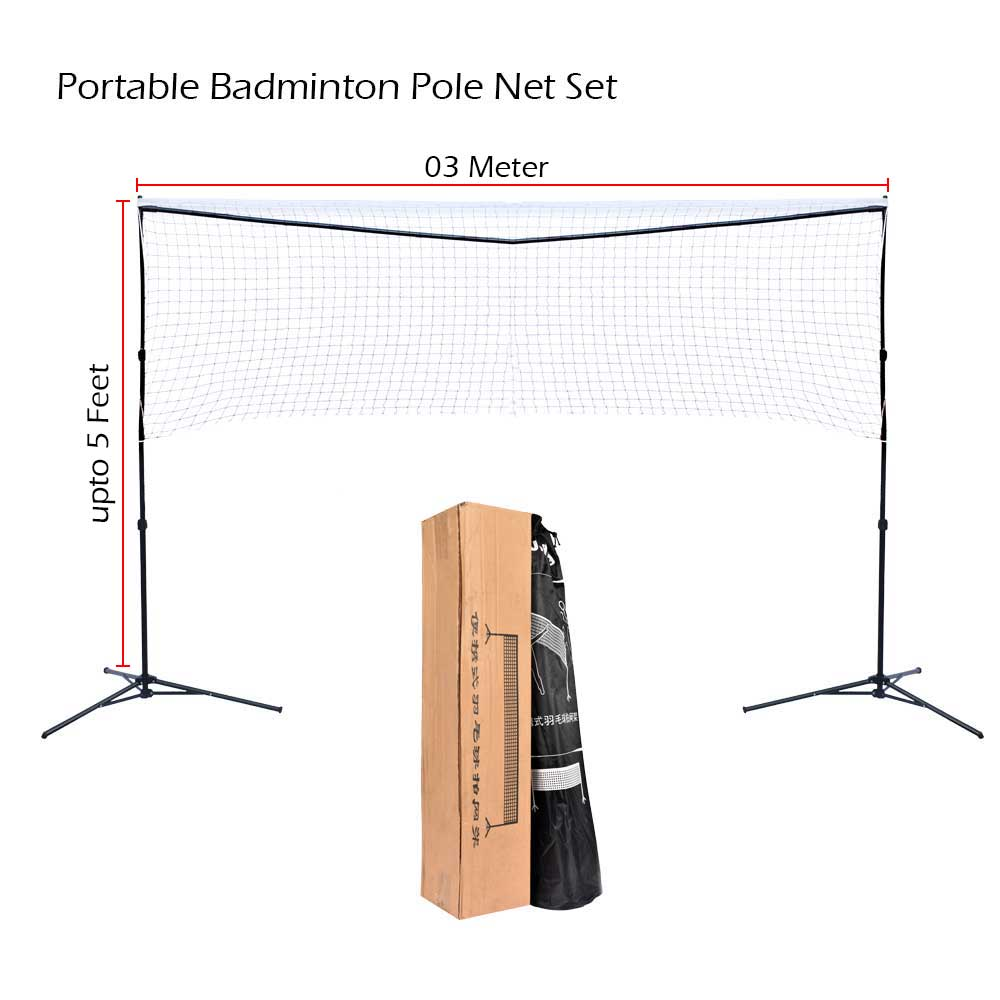 JIELING BADMINTON NET POLES PORTABLE WITH CARRY BAG