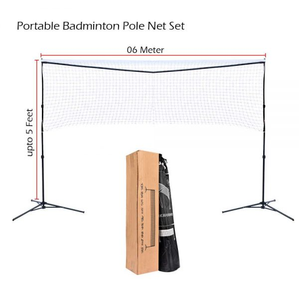 JIELING BADMINTON NET POLES PORTABLE WITH CARRY BAG (7)