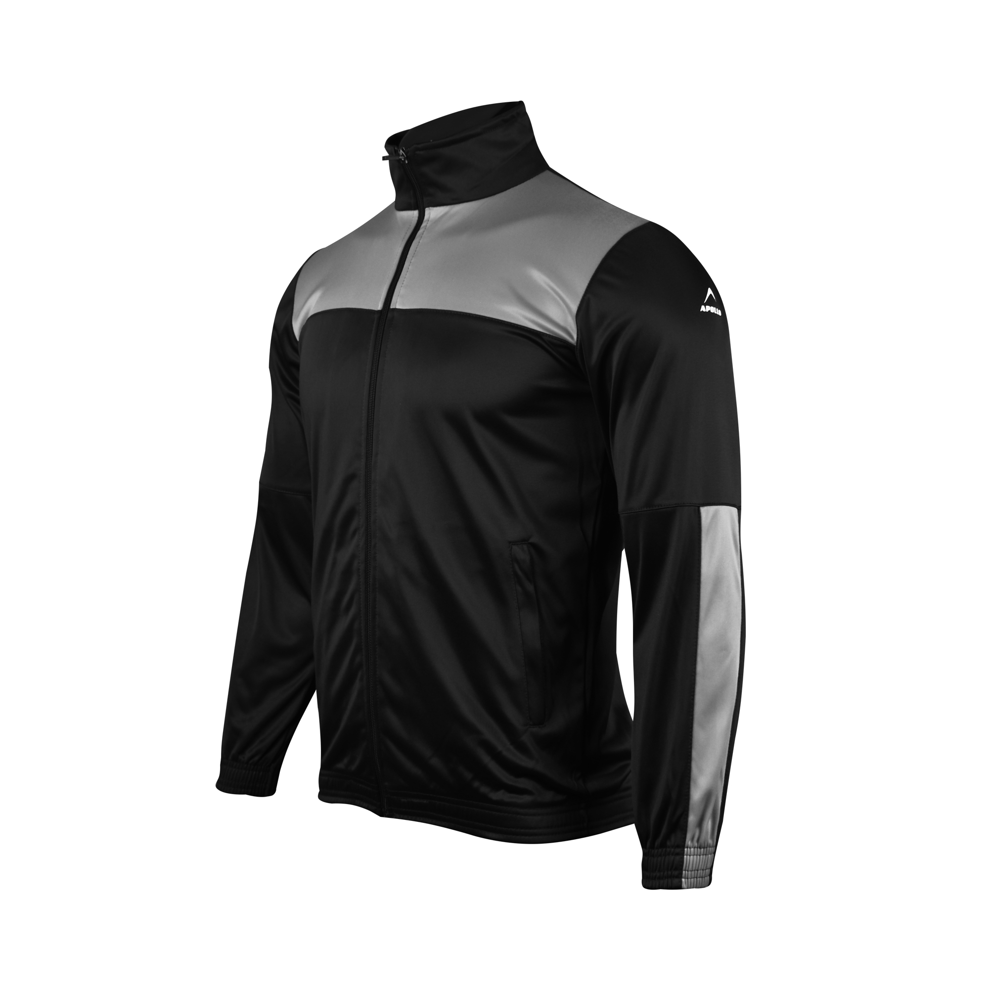MENS SPORTS CASUAL RUNNING TRAINING TRICOT TRINDA UPPER JACKET WINTER 19 APOLLO 93M251 - JET BLACK