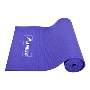YOGA EXERCISE MAT APOLLO FA0702 PVC MATERIAL 06MM THICKNESS - BLUE