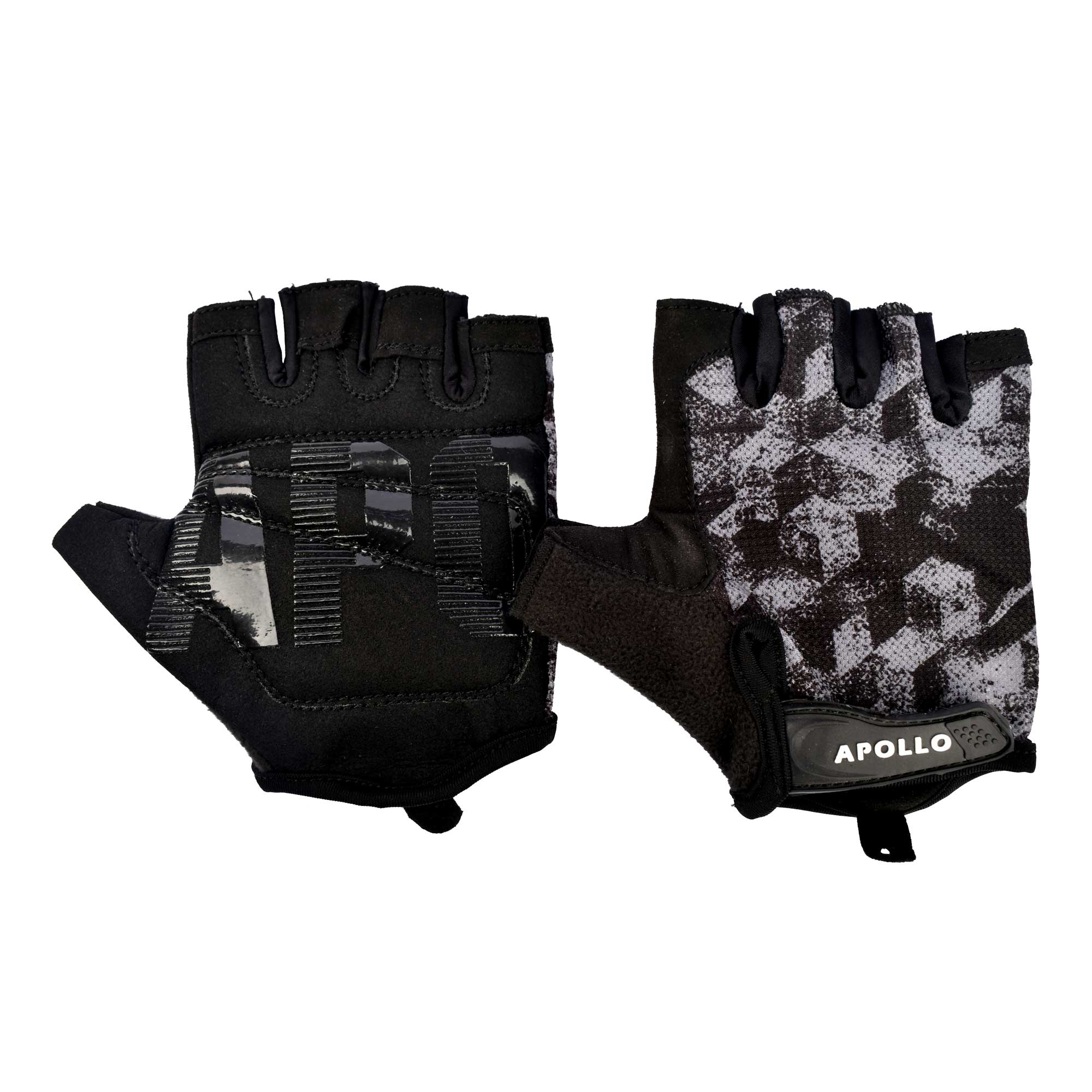 APOLLO WEIGHT LIFTING TRAINING GYM GLOVES FAWG27 - BLACKGRAY
