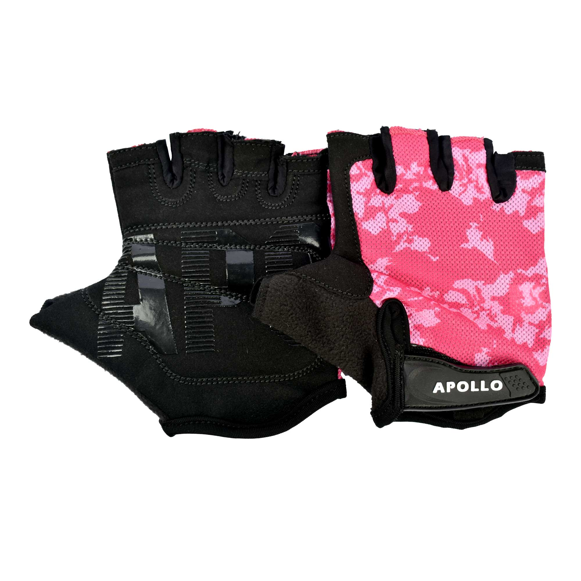 APOLLO WEIGHT LIFTING TRAINING GYM GLOVES FAWG27 - BLACKPINK